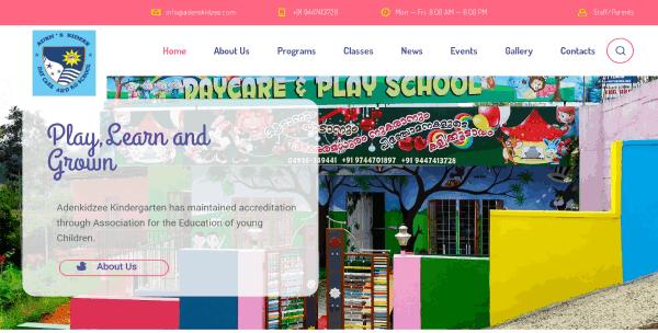 Kids_care_school_website
